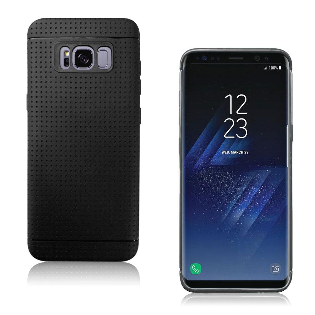 Samsung Galaxy S8 smart og holdbart silikonecover - Sort