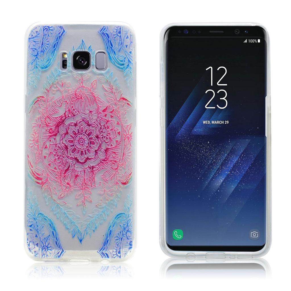 Samsung Galaxy S8 beskyttende silikonecover - Blomster motiv