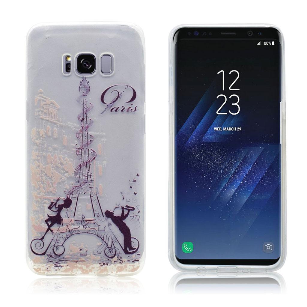 Samsung Galaxy S8 beskyttende silikonecover - Eiffeltårnet