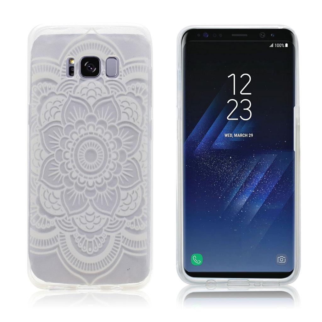 Samsung Galaxy S8 beskyttende silikonecover - Mandala blomster