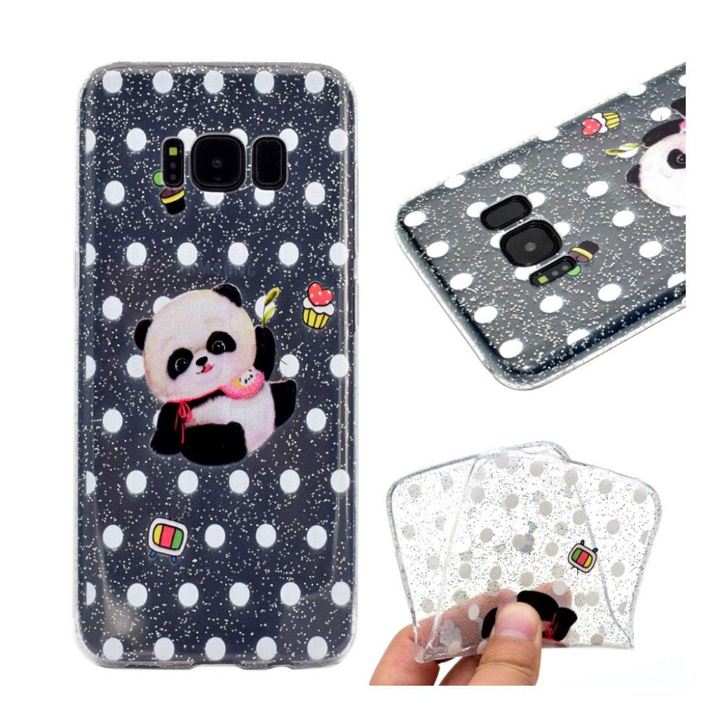 Samsung Galaxy S8 Silikone cover - Panda