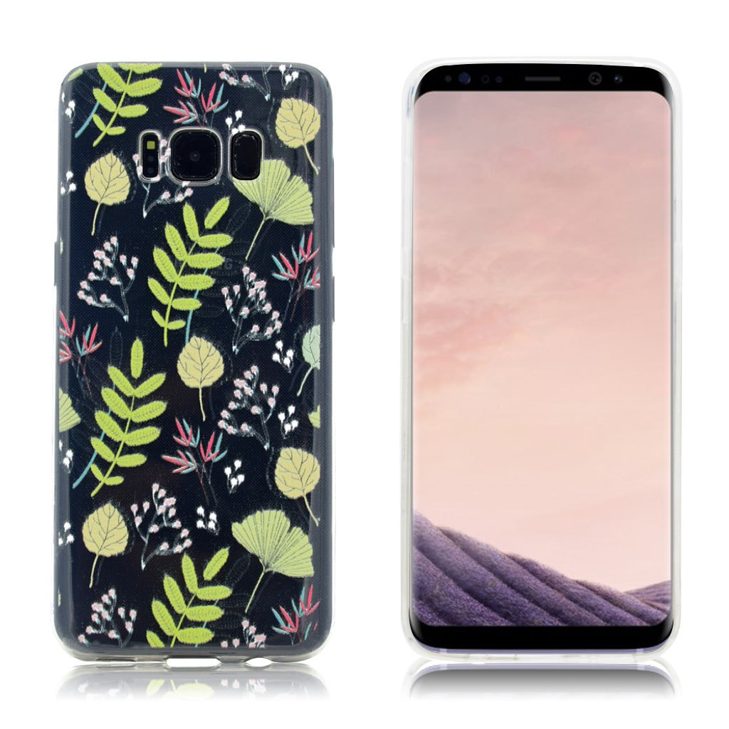 Samsung Galaxy S8 Silikone cover - Blomster og blade