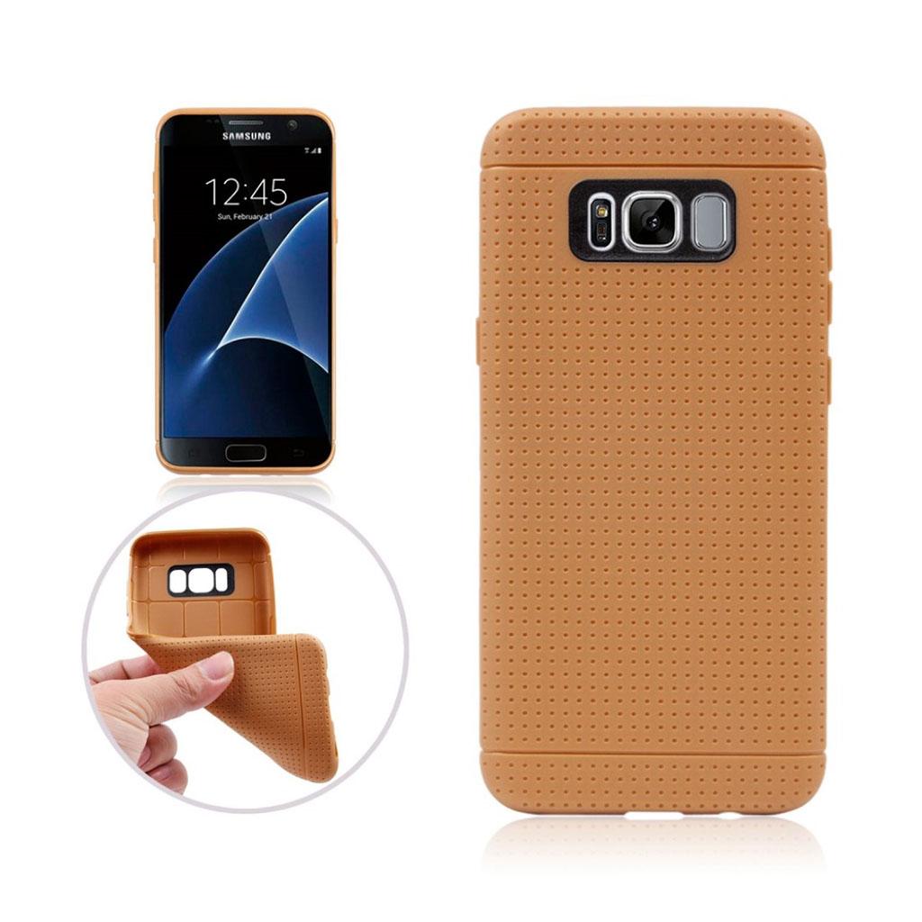 Samsung Galaxy S8 Plus stærkt og flot silikonecover - Brun