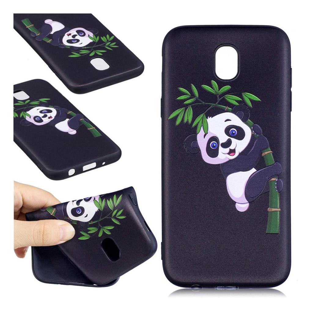 Image of   Samsung Galaxy J5 (2017) Beskyttende blødt cover - Panda i træ