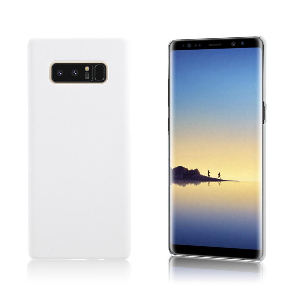 Samsung Galaxy Note 8 Slank og let plastik cover - Hvid