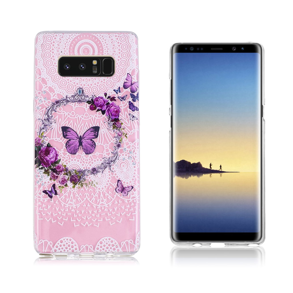 Samsung Galaxy Note 8 Ultra tyndt robust cover - Blomsterengen