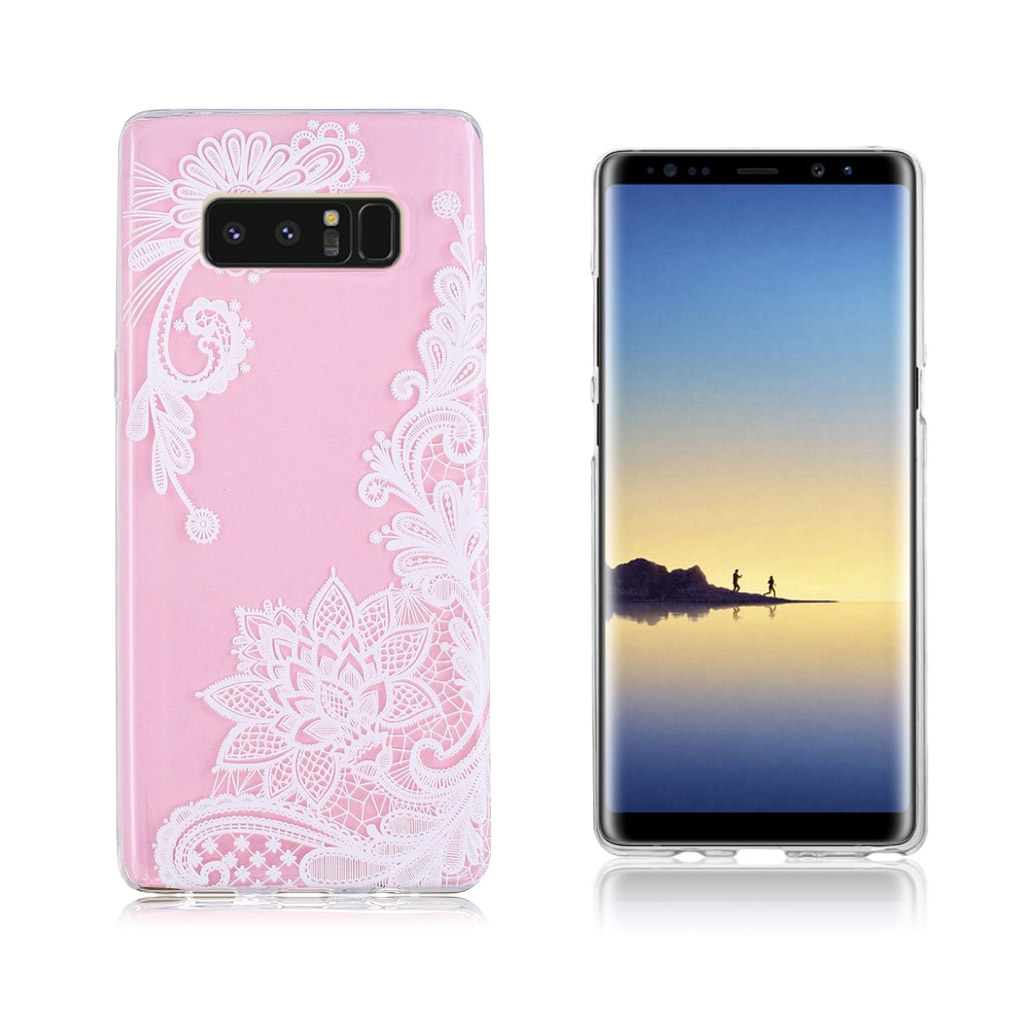 Samsung Galaxy Note 8 Ultra tyndt robust cover - Blomster mønster