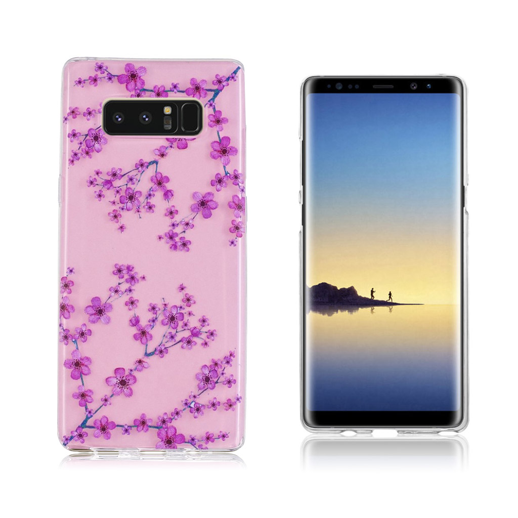 Samsung Galaxy Note 8 Ultra tyndt robust cover - Plumme plante