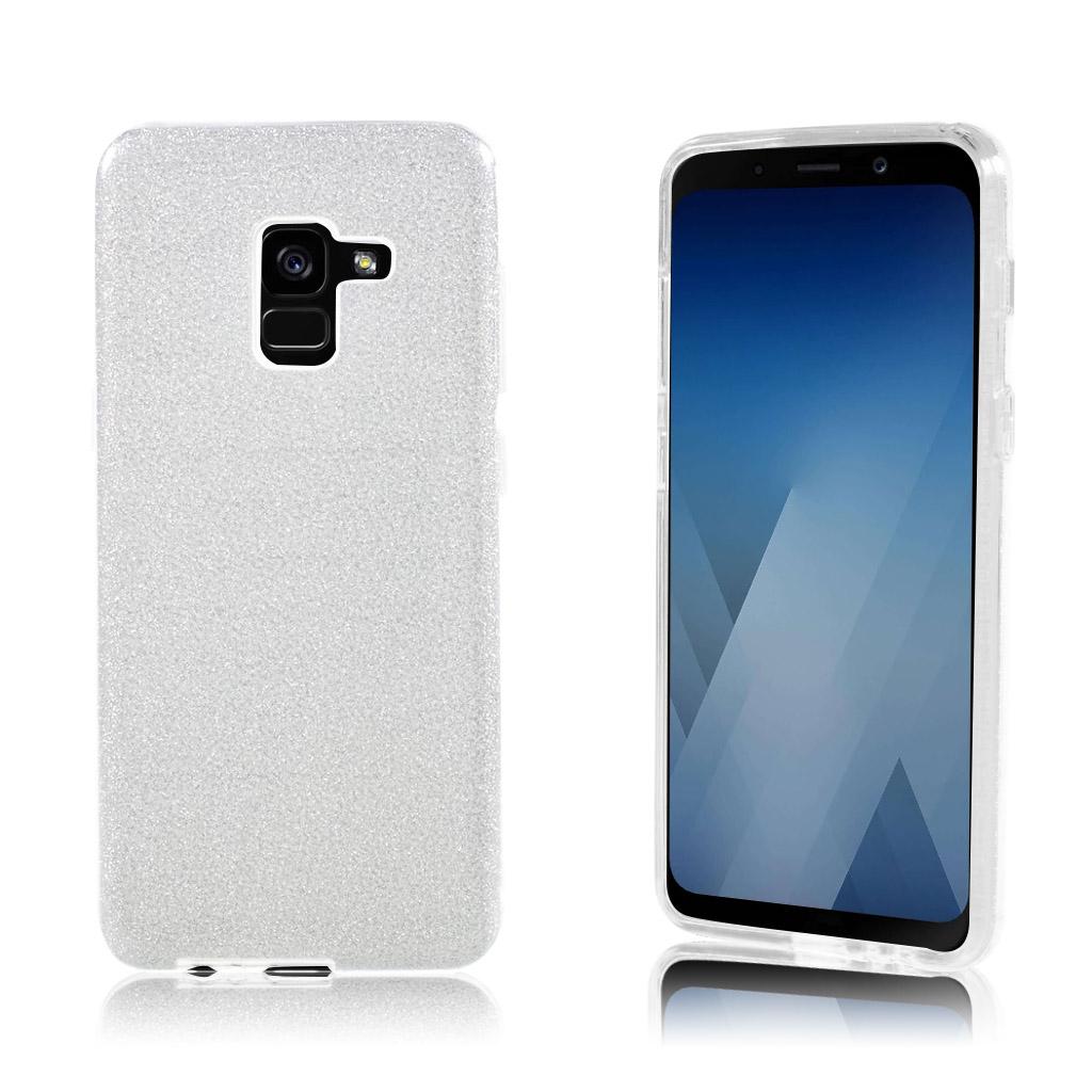 Samsung Galaxy A8 (2018) glittery TPU case - Silver