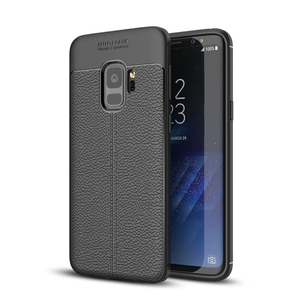 Samsung Galaxy S9 litchi grain case - Black