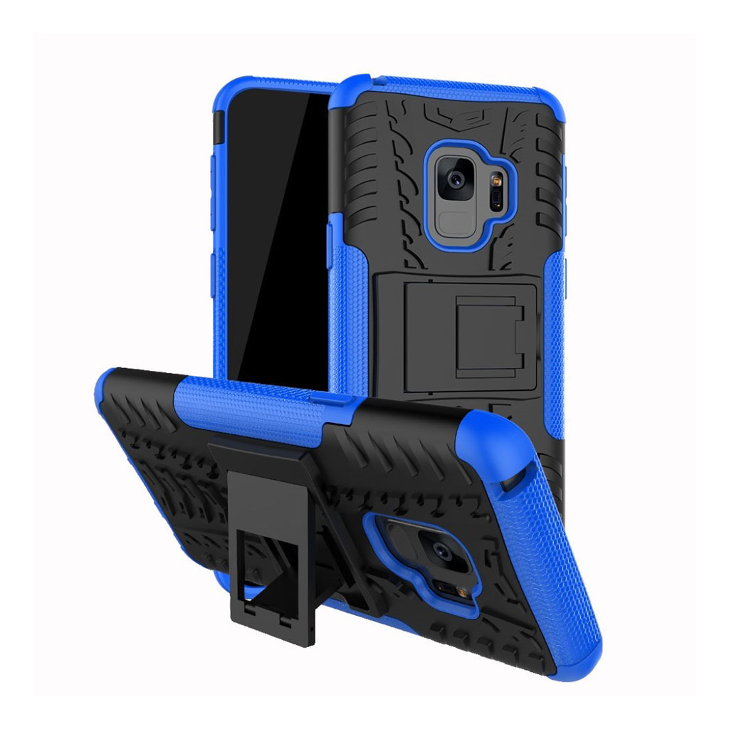 Samsung Galaxy S9 anti-slip hybrid case - Blue