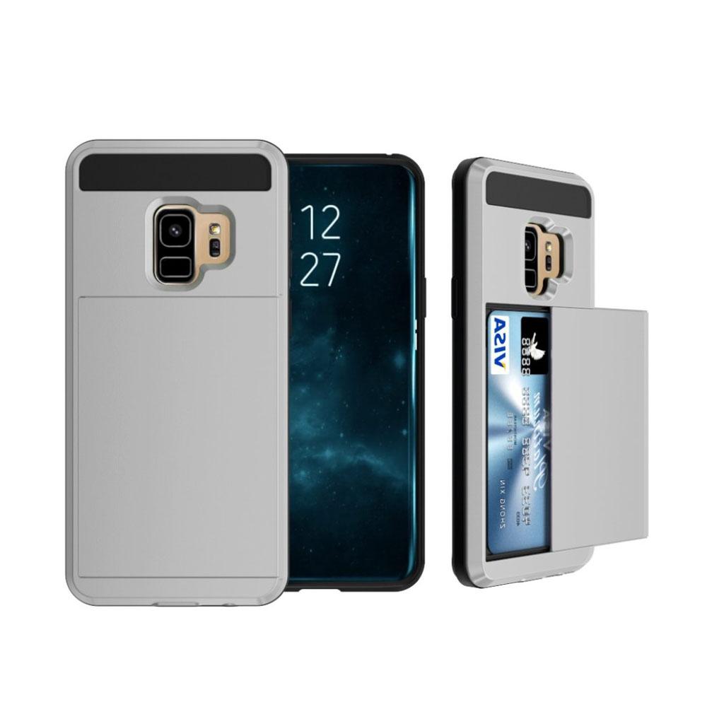 Samsung Galaxy S9 sliding kort TPU etui - Grå