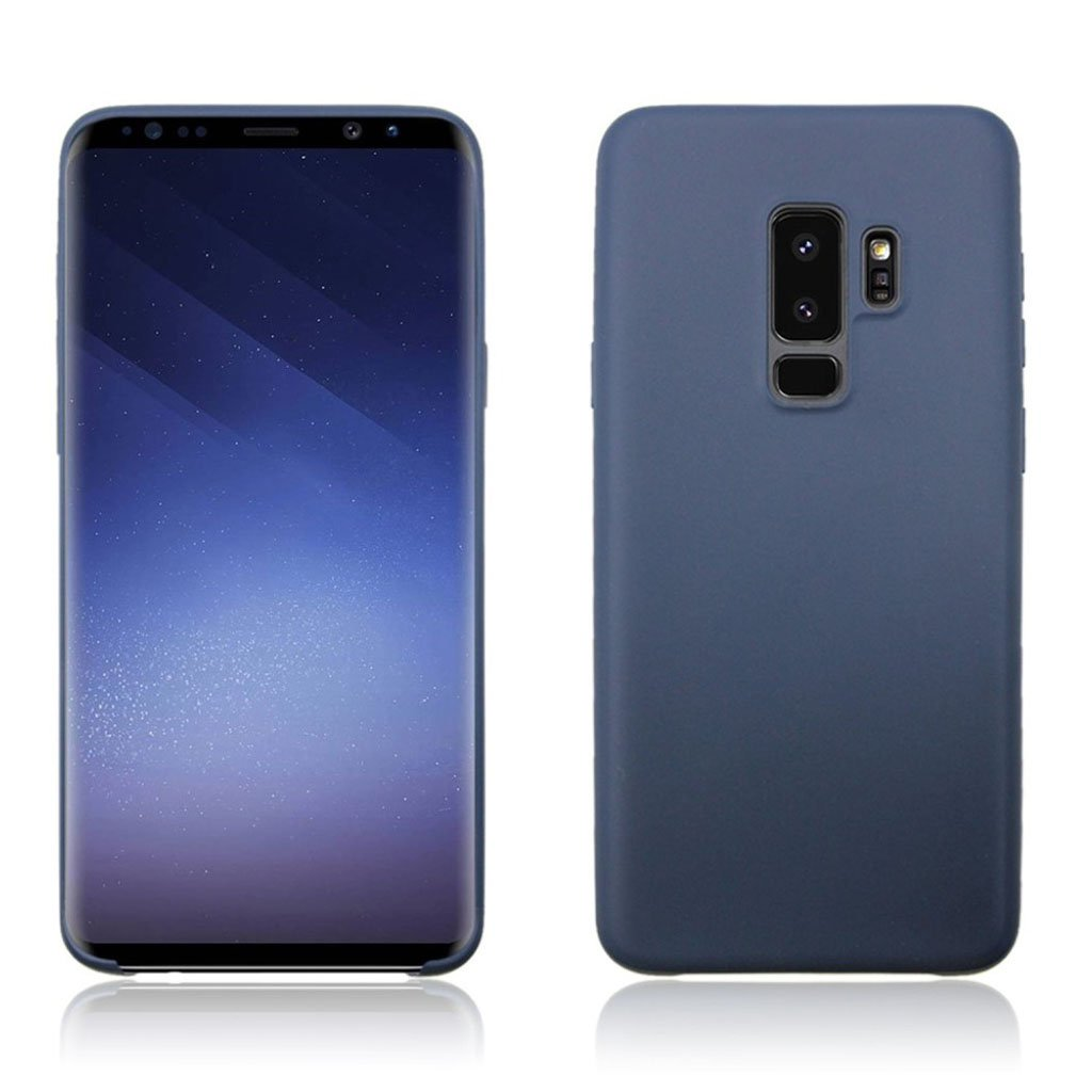 Samsung Galaxy S9 Plus matte soft case - Dark Blue