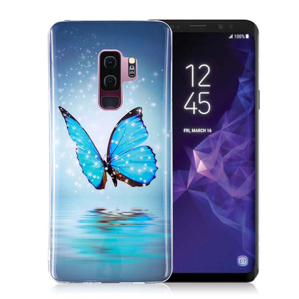 IMD Samsung Galaxy S9 Plus patterned case - Shining Blue Butterfly