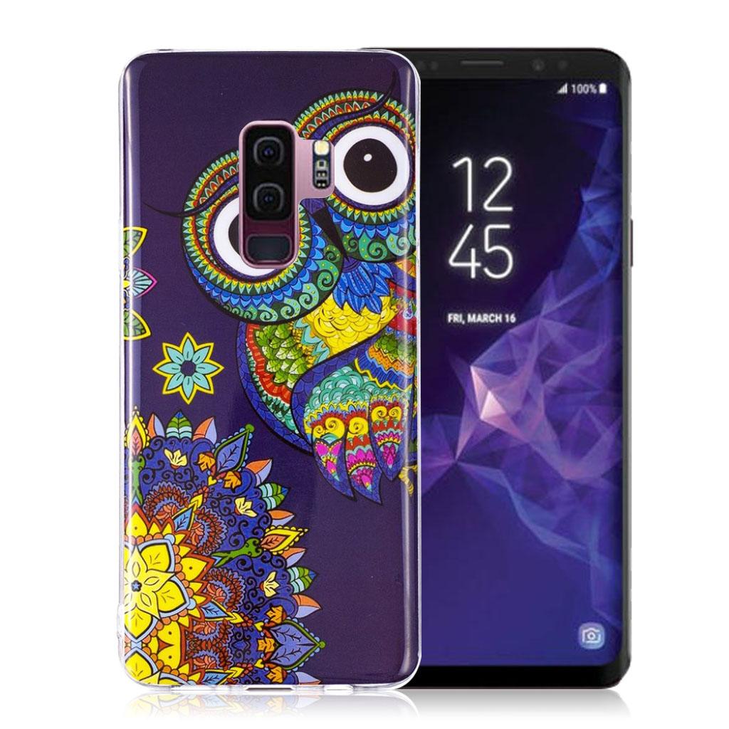 Samsung Galaxy S9 Plus patterned IMD soft TPU case - Owl