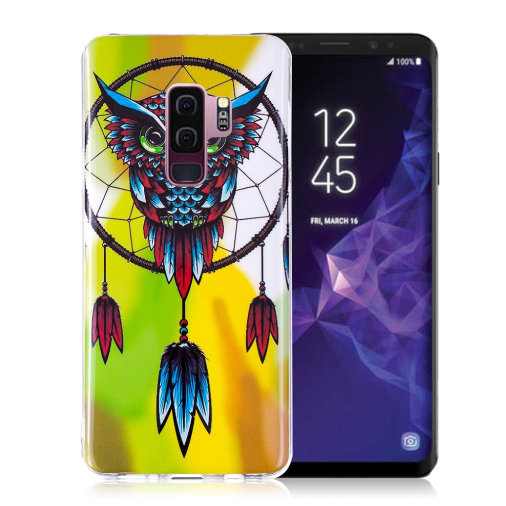 Samsung Galaxy S9 Plus patterned IMD soft TPU case - Owl and Dream Catcher