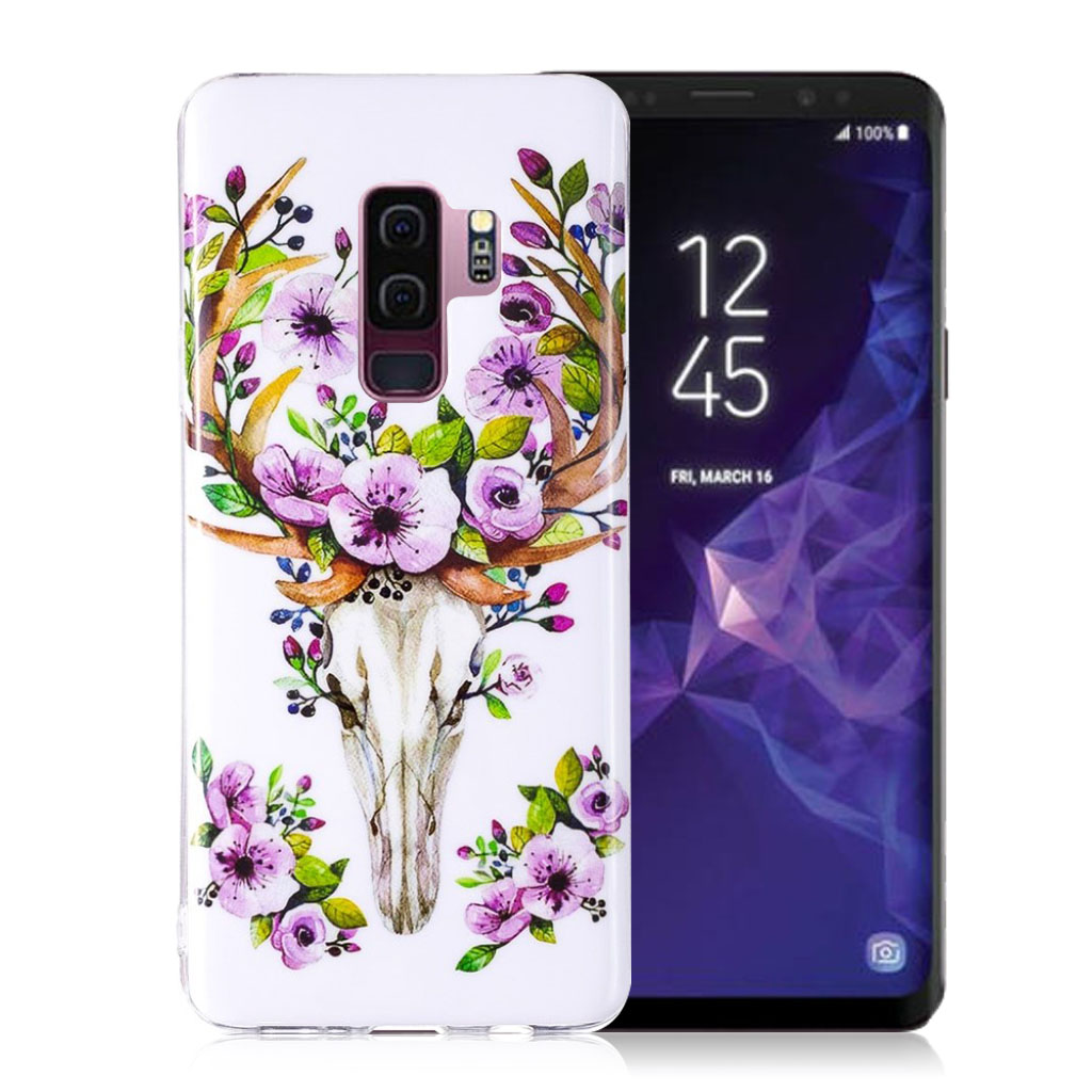IMD Samsung Galaxy S9 Plus patterned case - Flowered Elk