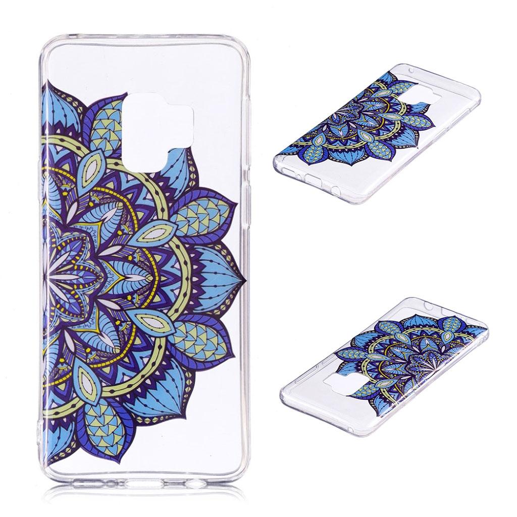 Samsung Galaxy S9 Plus patterned IMD soft TPU case - Blue Flower