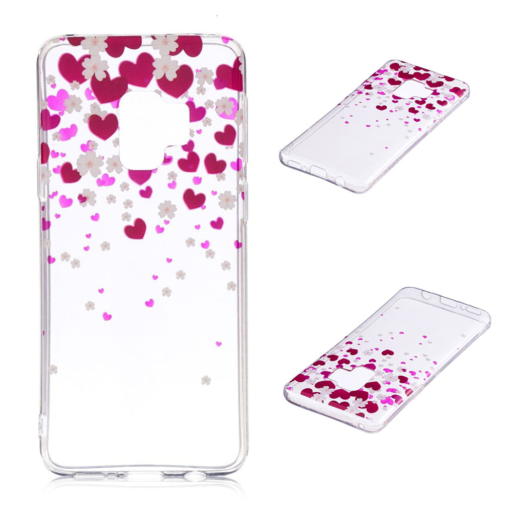 IMD Samsung Galaxy S9 Plus patterned case - Hearts and Flowers
