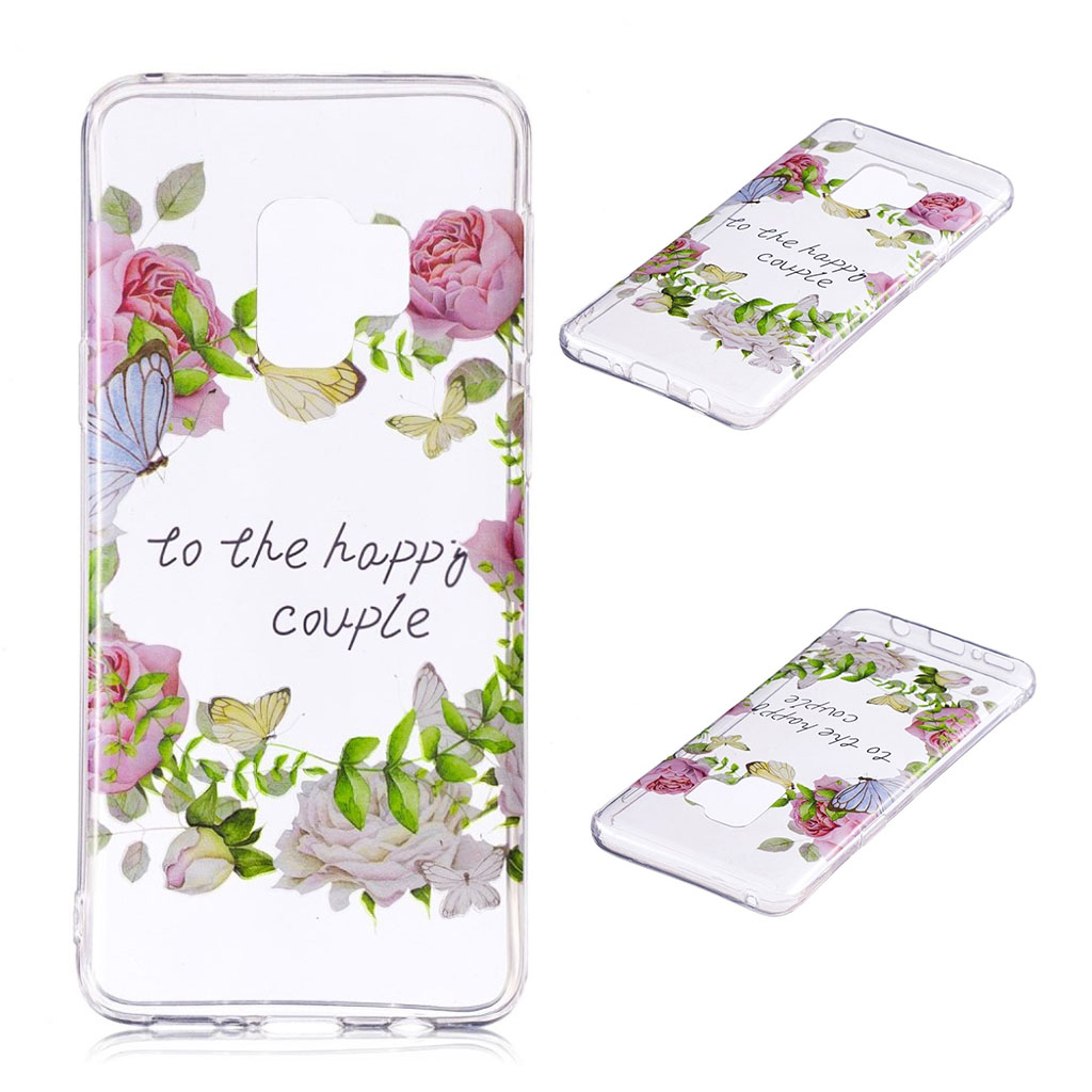 Samsung Galaxy S9 Plus patterned IMD soft TPU case - Butterfly and Flower