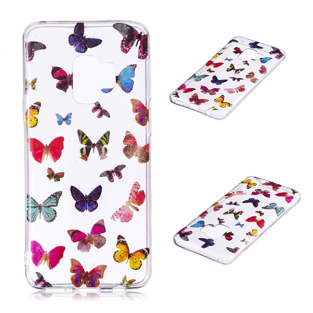 Samsung Galaxy S9 Plus patterned IMD soft TPU case - Colorized Butterflies