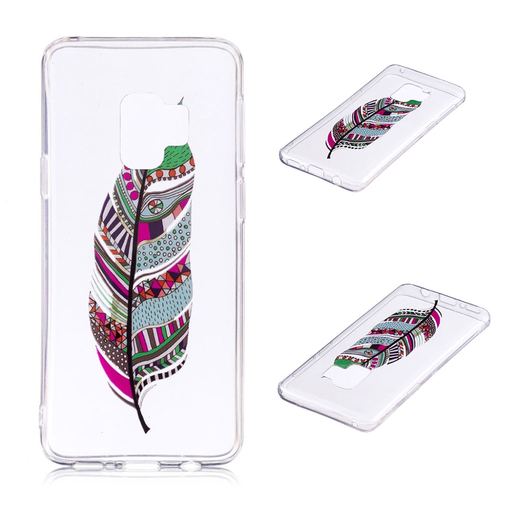 Samsung Galaxy S9 Plus patterned IMD soft TPU case - Colorized Feather