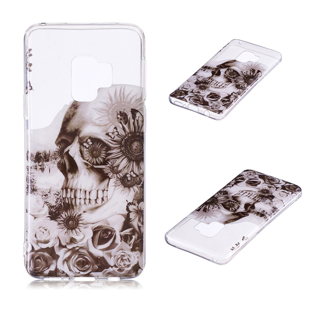 IMD Samsung Galaxy S9 Plus patterned case - Skull and Flower