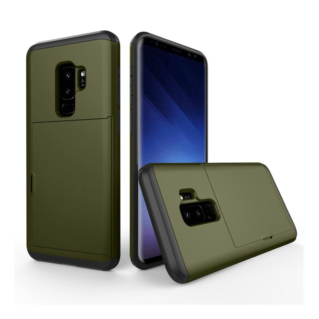 Samsung Galaxy S9 Plus hybrid TPU etui - Militærgrøn