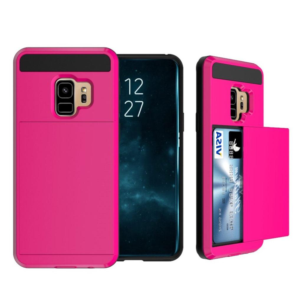 Samsung Galaxy S9 Plus slice kort TPU etui - Rose