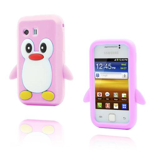 Funny Penguin (Pink) Samsung Galaxy Y Cover