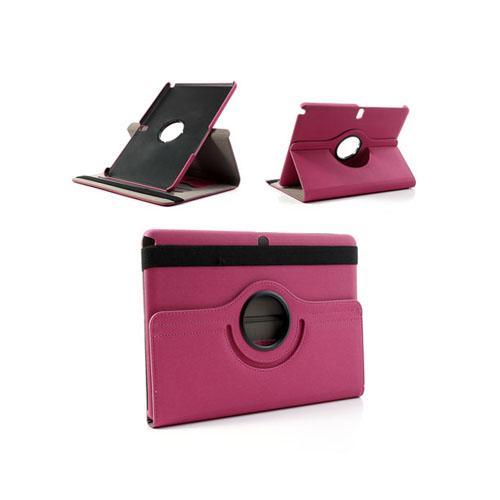Image of   360Degree (Pink) Samsung Galaxy Note 10.1 (2014 Edition) Læderetui