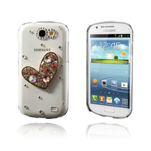 Image of   3D Bling (Hjerte) Samsung Galaxy Express cover