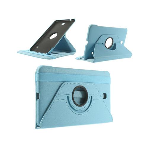 Image of   3-Sixty (Lys Blå) Samsung Galaxy Tab 4 8.0 Læder Flip Etui