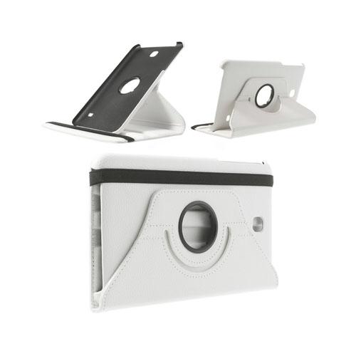 Image of   3-Sixty (Hvid) Samsung Galaxy Tab 4 8.0 Læder Flip Etui
