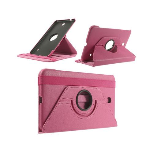 Image of   3-Sixty (Hot Pink) Samsung Galaxy Tab 4 8.0 Læder Flip Etui