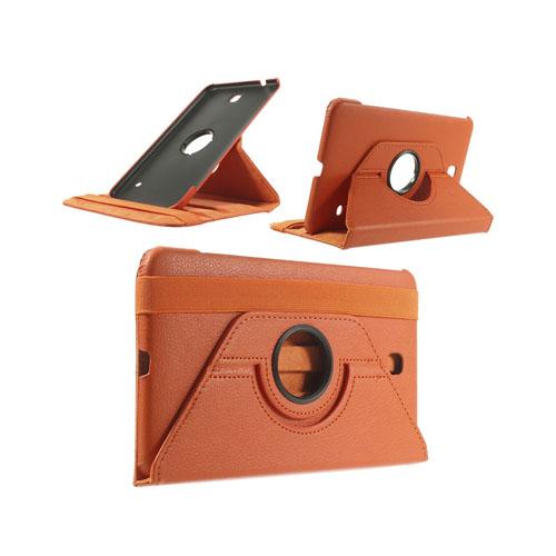 Image of   3-Sixty (Orange) Samsung Galaxy Tab 4 8.0 Læder Flip Etui