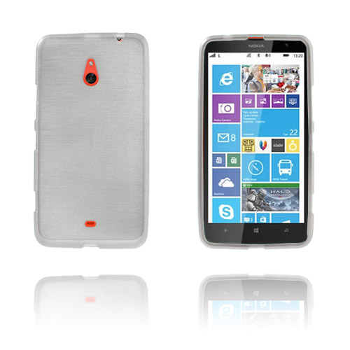 Brush (Hvid) Nokia Lumia 1320 Cover