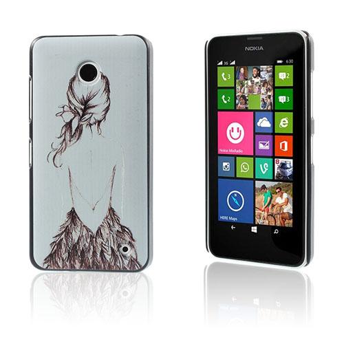 Persson Nokia Lumia 630/635 Cover - Skitse af Kvinde