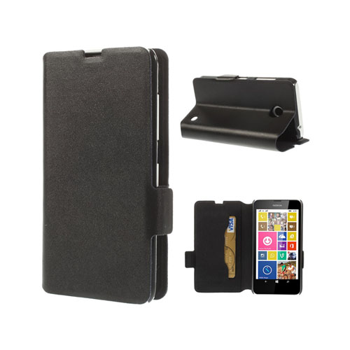 Image of   Bellman (Sort) Nokia Lumia 630 / 635 Læder Flip Etui