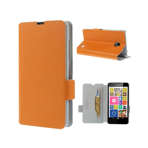 Image of   Bellman (Orange) Nokia Lumia 630 / 635 Læder Flip Etui
