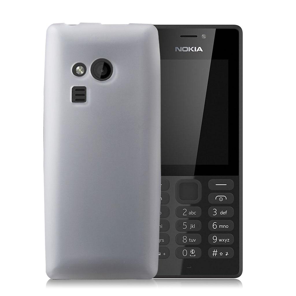Nokia 216 Cover med matteret overflade - Hvid