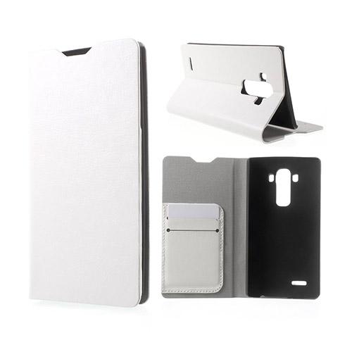 Image of   Amdrup LG G4 Læder Etui Med Kortholder - Hvid