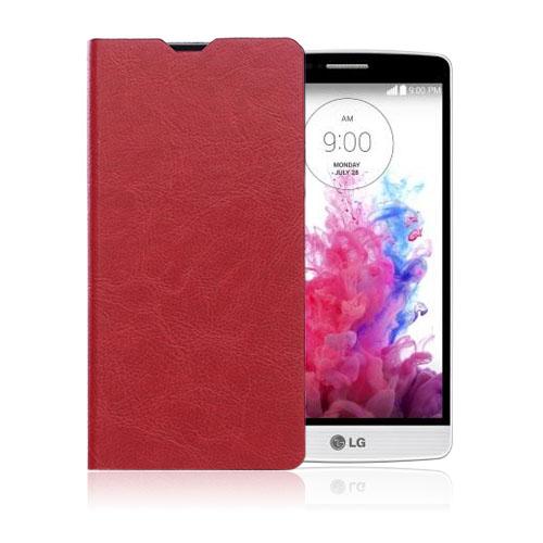Image of   Amdrup læder-etui med stå-funktion til LG G4s - Rød