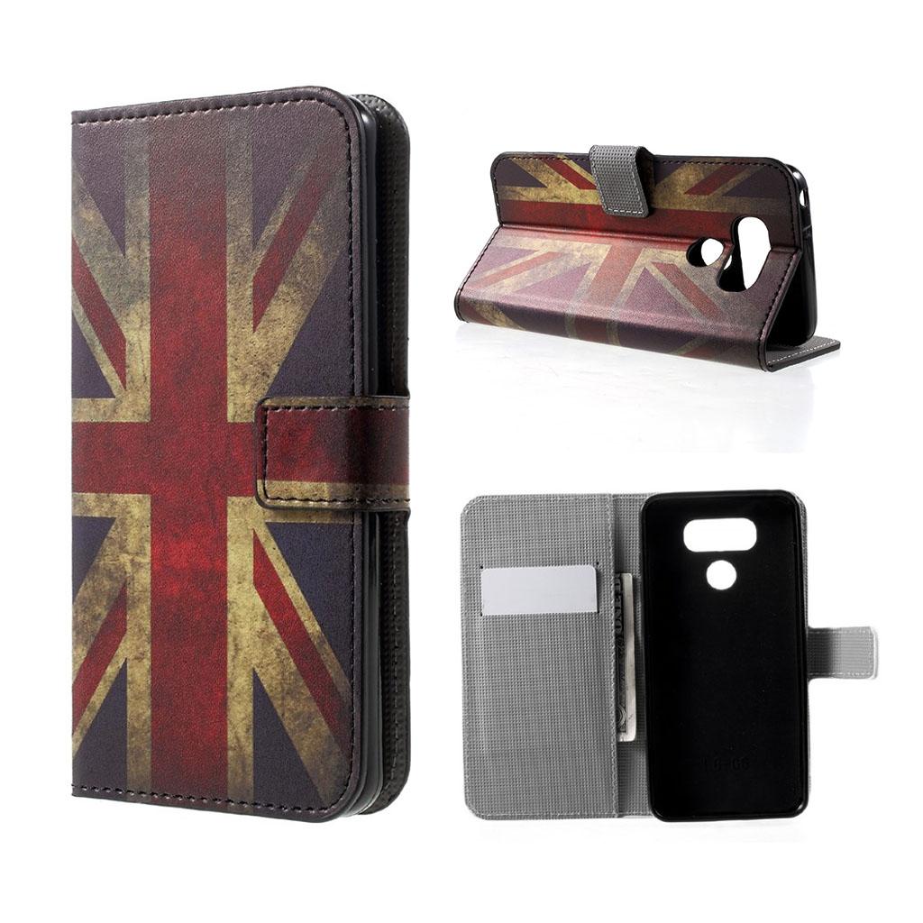 LG G6 beskyttende læder etui - Retro UK flag