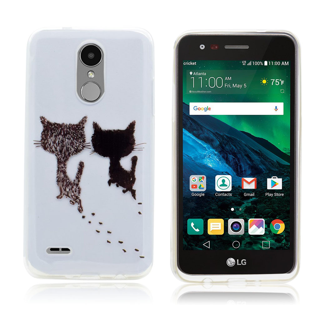 LG K4 2017 Two style PU leather flip case - Two Cats