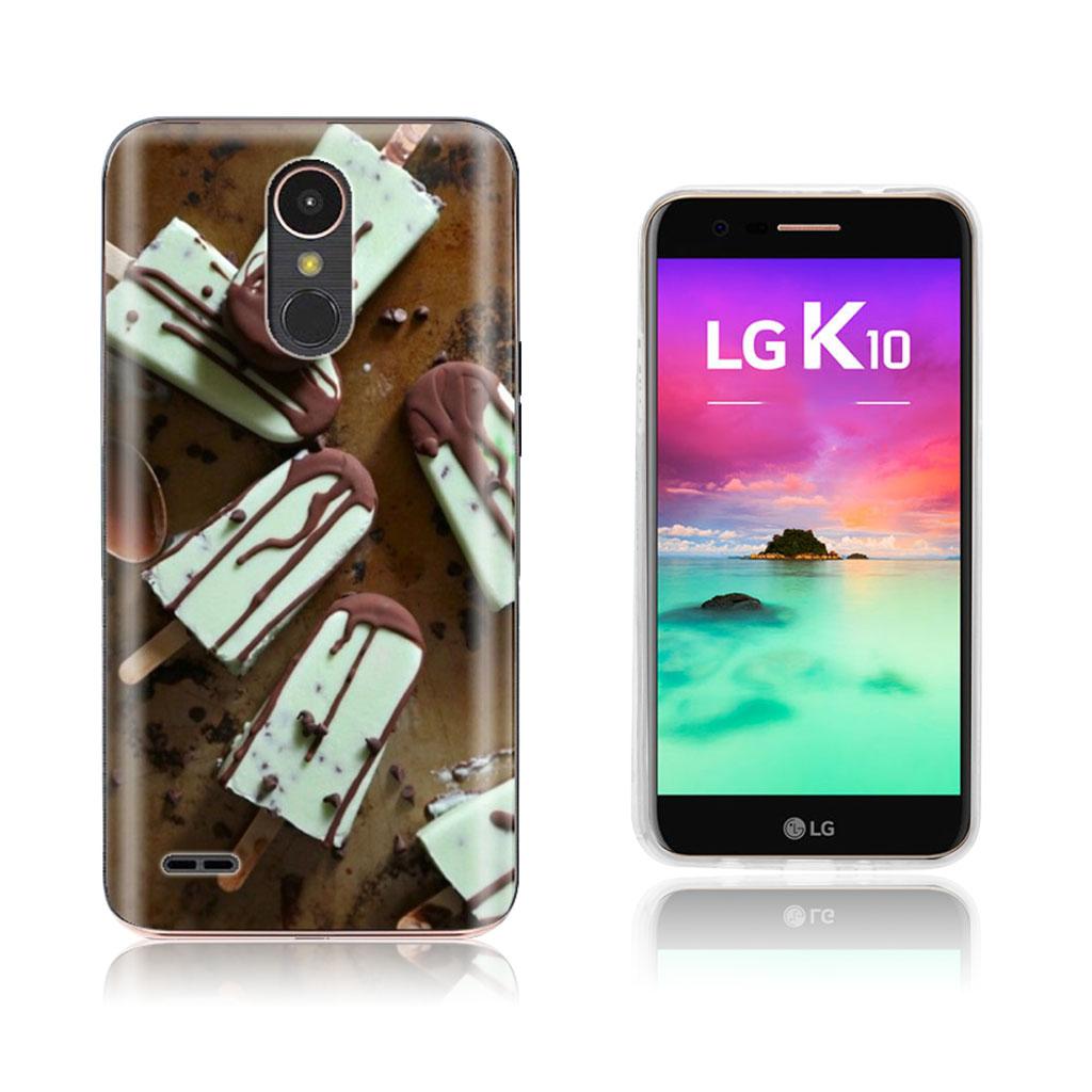 LG K10 2017 softlyfit embossed TPU case - Chocolate Popsicles
