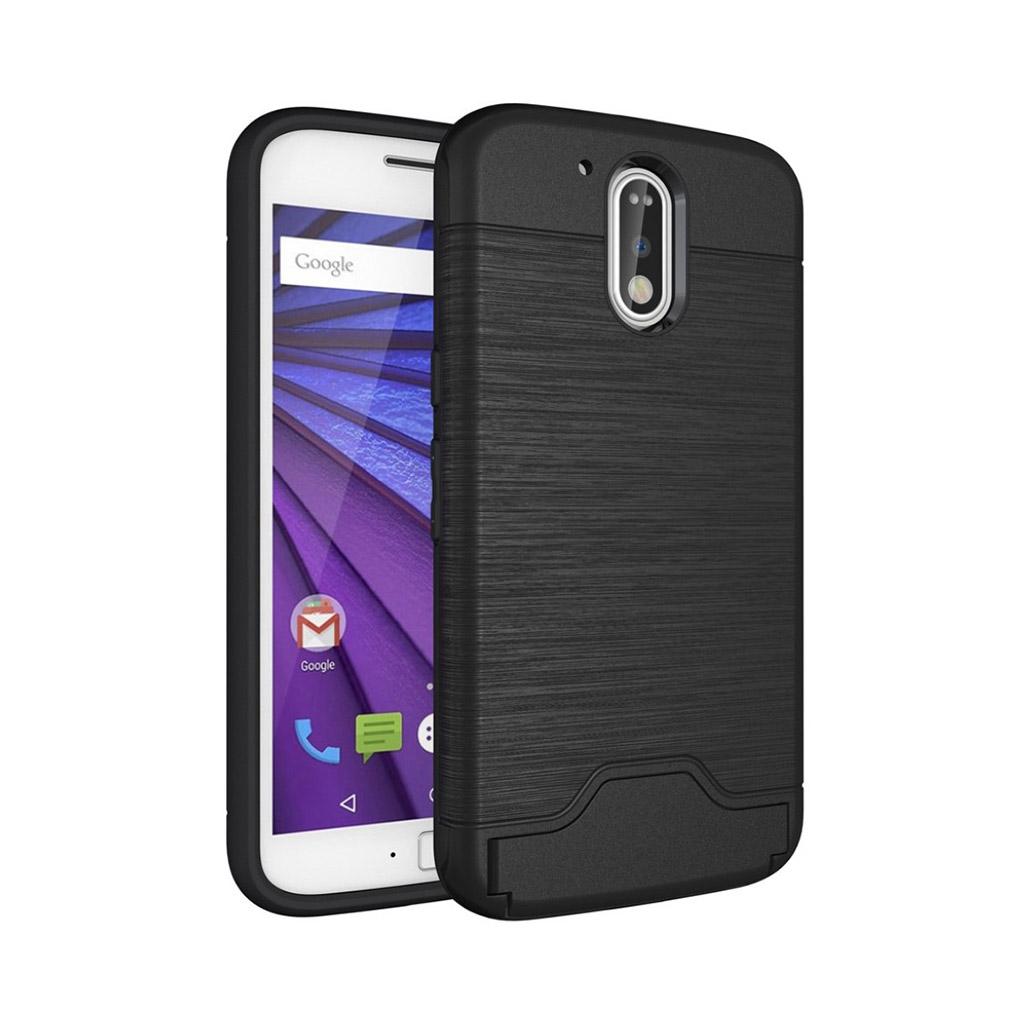 Image of   Absalon fleksibelt cover til Motorola Moto G4 / G4 Plus - Sort