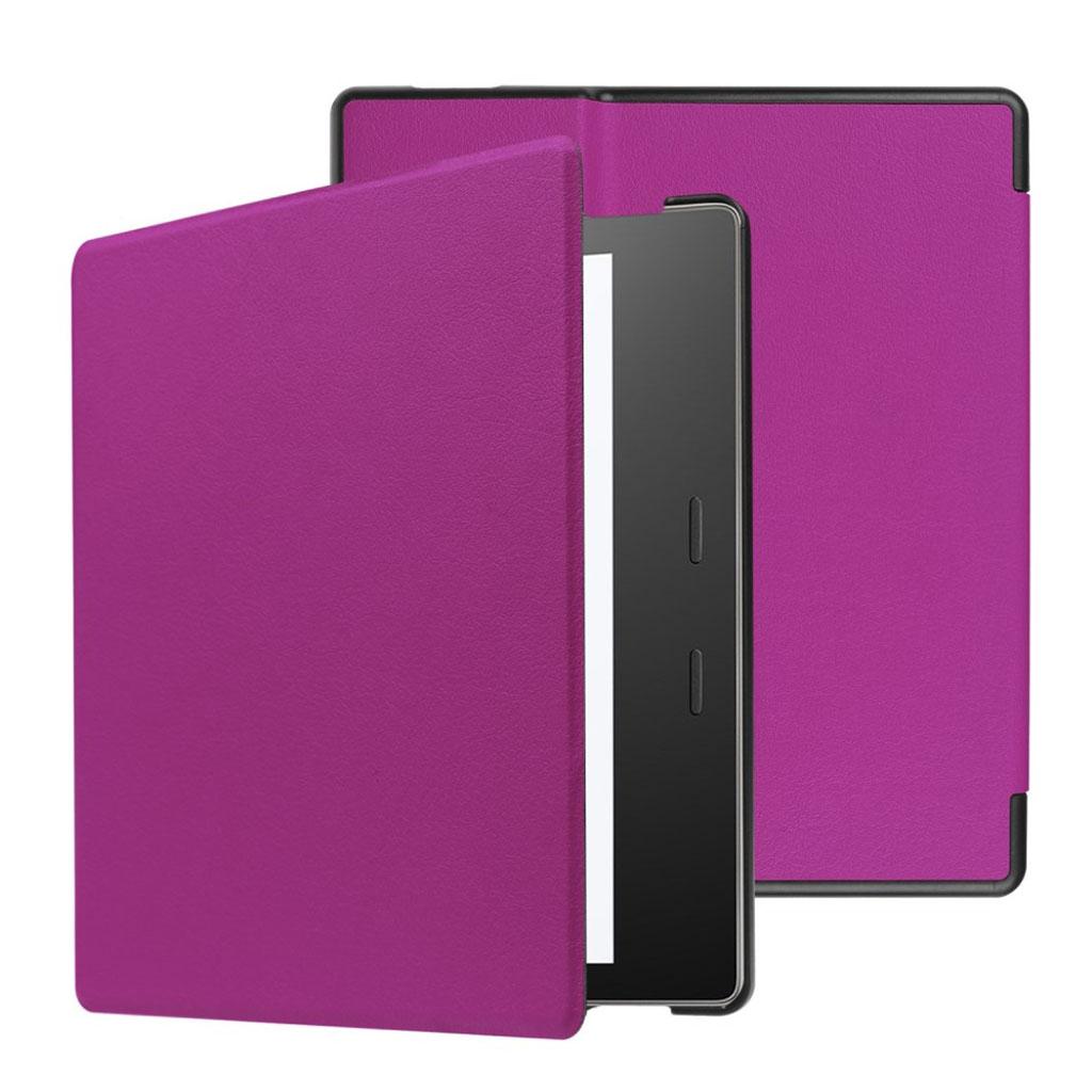 Image of   Amazon Kindle Oasis (2017) folio PU leather flip case - Purple