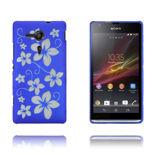 Blomster (Blå) Sony Xperia SP Cover