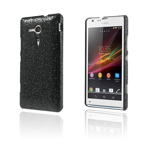 Glitter (Sort) Sony Xperia SP Cover